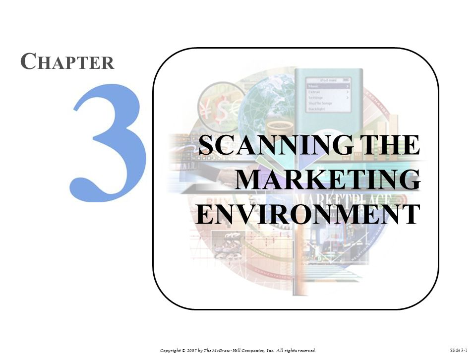 Copyright © 2007 by The McGraw-Hill Companies, Inc. All rights reserved. Slide 3-1 SCANNING THE MARKETING ENVIRONMENT C HAPTER