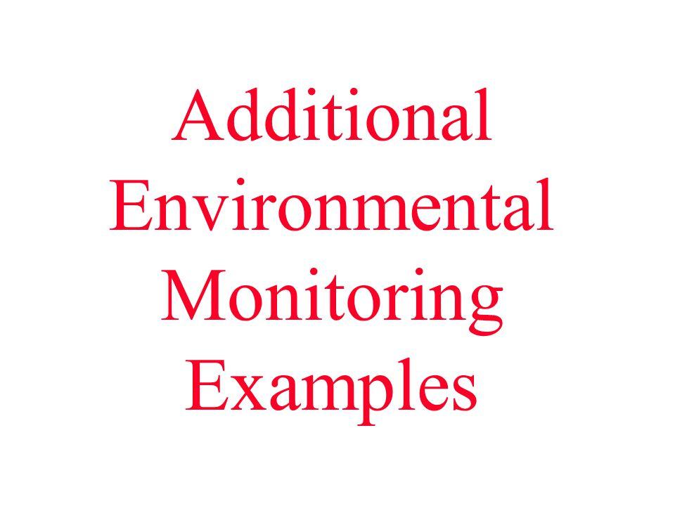 Additional Environmental Monitoring Examples