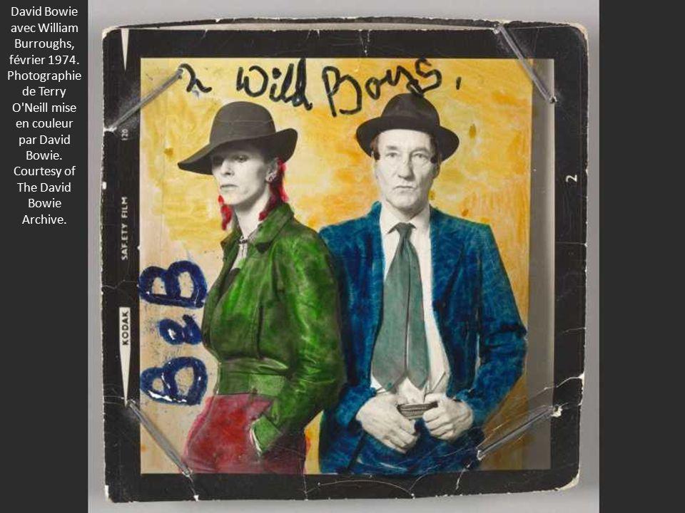 David Bowie avec William Burroughs, février 1974.