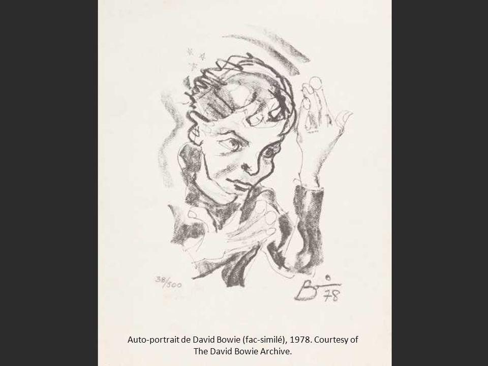 Auto-portrait de David Bowie (fac-similé), 1978. Courtesy of The David Bowie Archive.