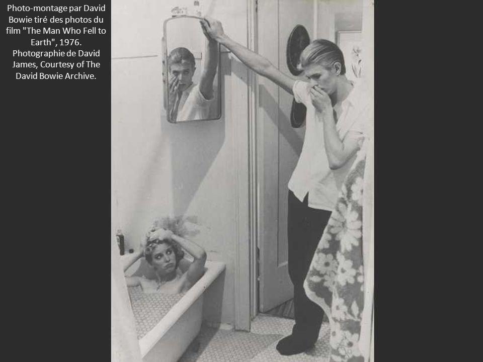 Photo-montage par David Bowie tiré des photos du film The Man Who Fell to Earth , 1976.
