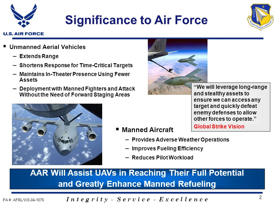 I n t e g r i t y - S e r v i c e - E x c e l l e n c e 23 AAR Auto ACAS Simulation (Summer 2004) UAV Position and Pathway Validation Study (Fall 2004) Turbulence Evaluations (Winter 2004) Recent Simulation Events Wingtip Vortex Inboard and Outboard Engine Exhaust Inboard Intermediate Inboard Observation Dist A: Public Released