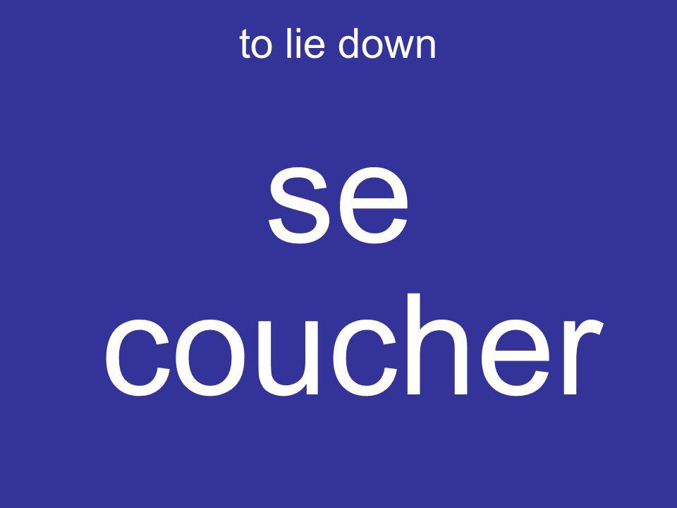 to lie down se coucher