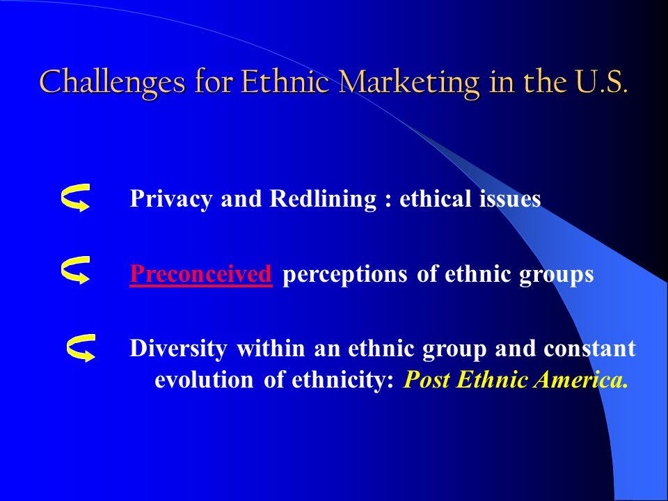 Challenges for Ethnic Marketing in the U.S.