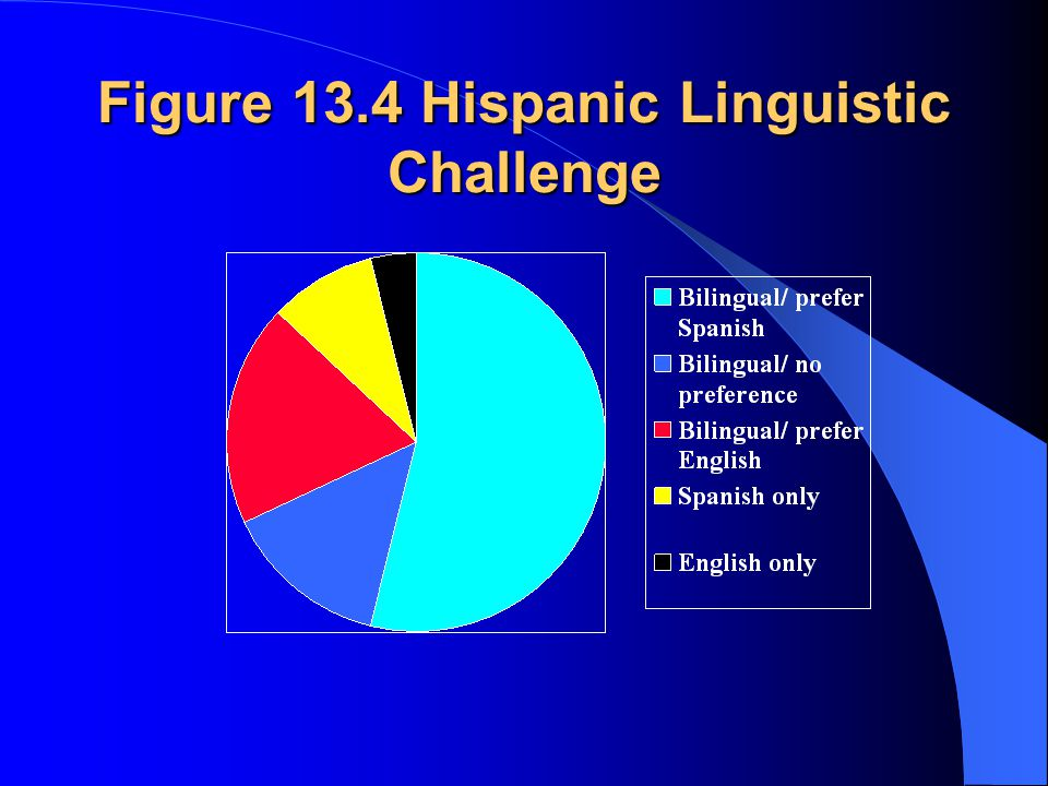 Figure 13.4 Hispanic Linguistic Challenge