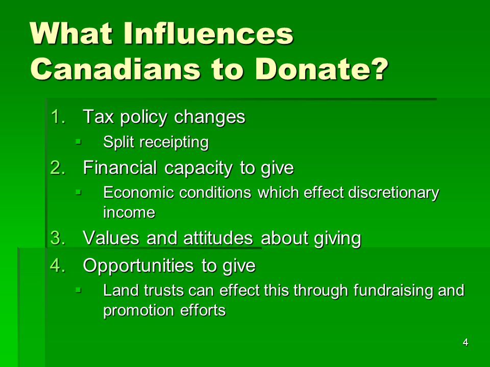 4 What Influences Canadians to Donate.