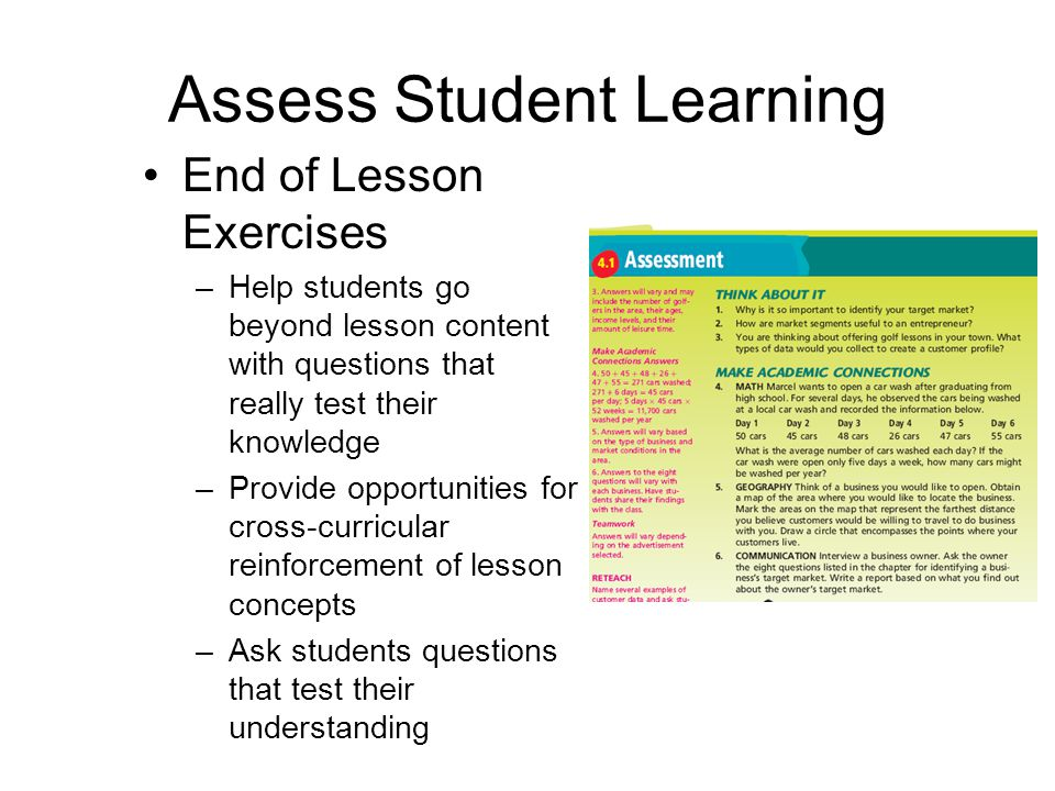 Ways to Enhance Learning Provide learning opportunities that reinforce and expand lesson concepts –Emphasize teamwork activities –Highlight the pitfal