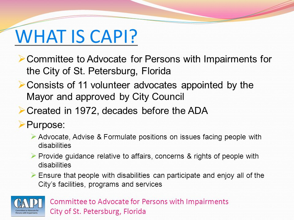 Committee to Advocate for Persons with Impairments City of St.