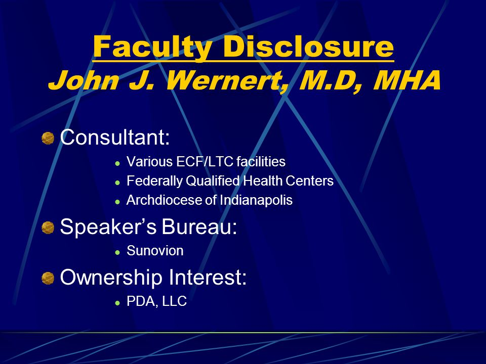 Faculty Disclosure John J.