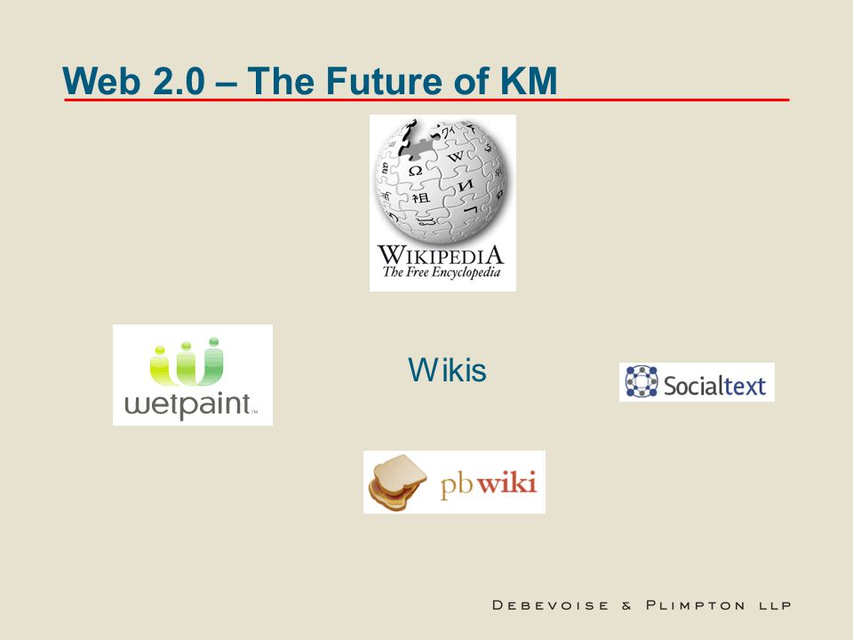 Web 2.0 – The Future of KM Wikis
