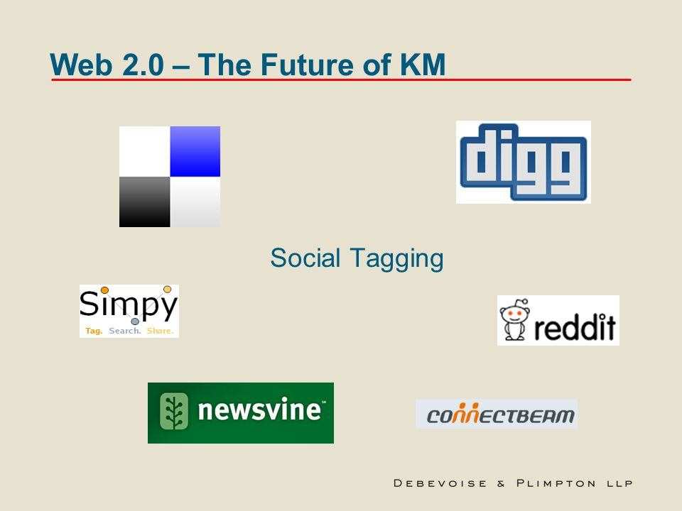 Web 2.0 – The Future of KM Social Tagging
