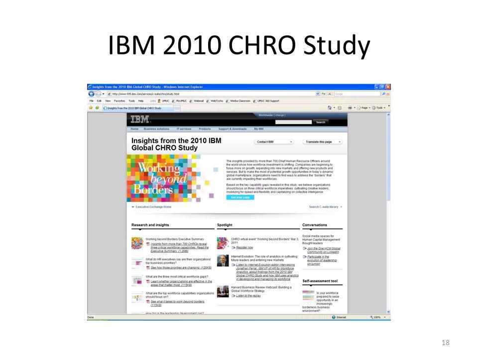 IBM 2010 CHRO Study 18