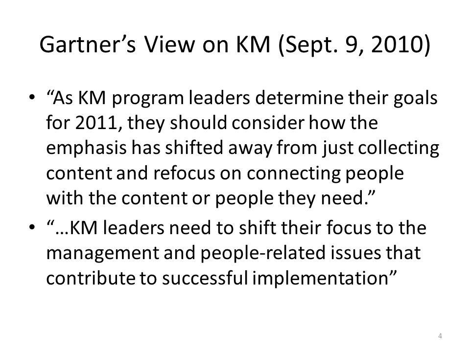 Gartner's View on KM (Sept.