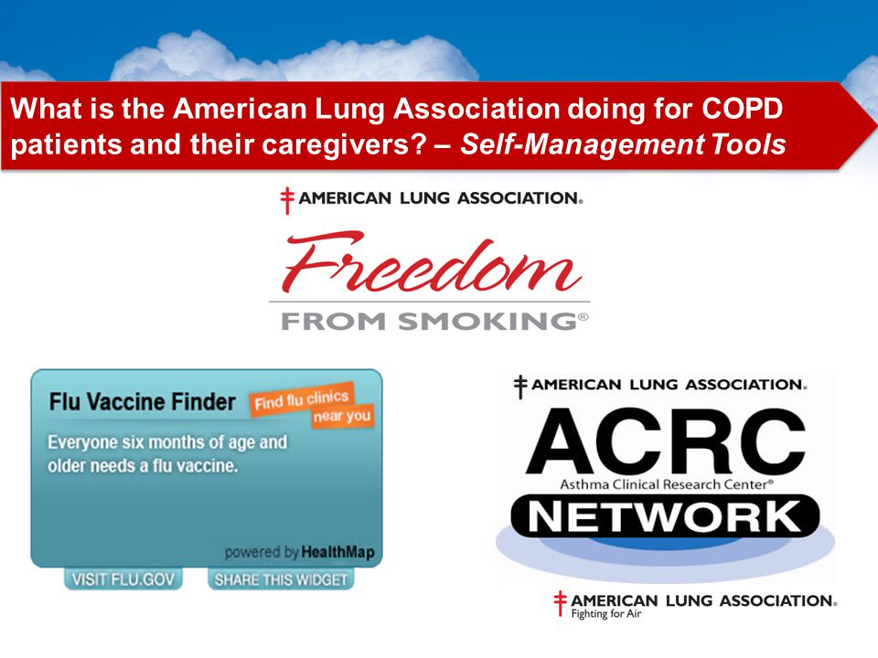 What is the American Lung Association doing for COPD patients and their caregivers? – Self-Management Tools