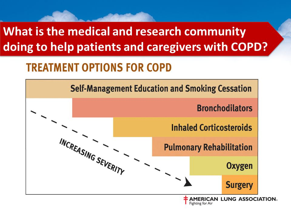 What is the medical and research community doing to help patients and caregivers with COPD?