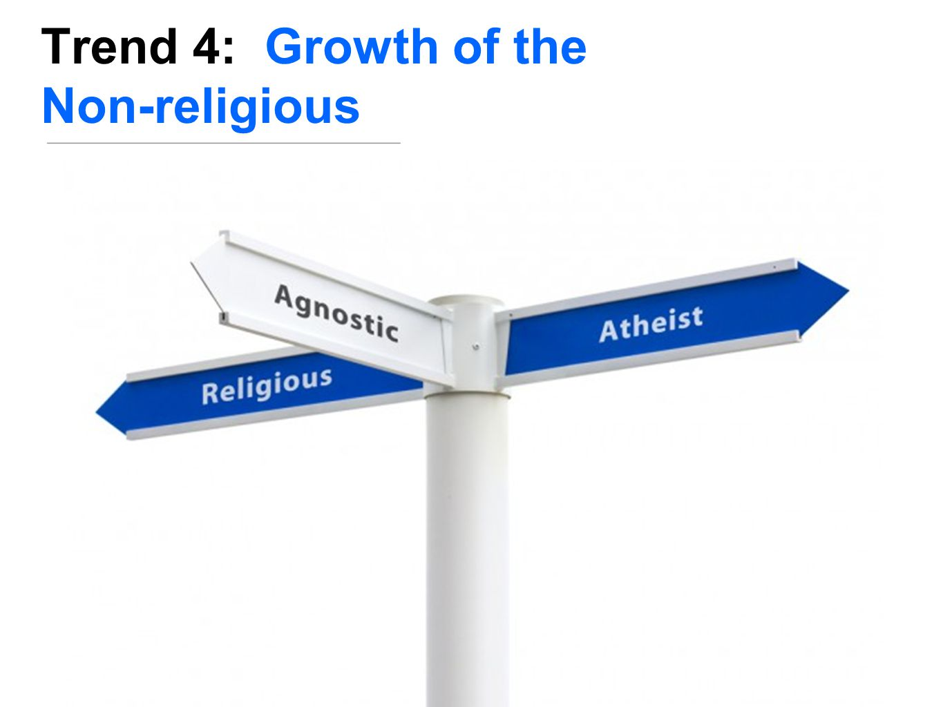 Trend 4: Growth of the Non-religious
