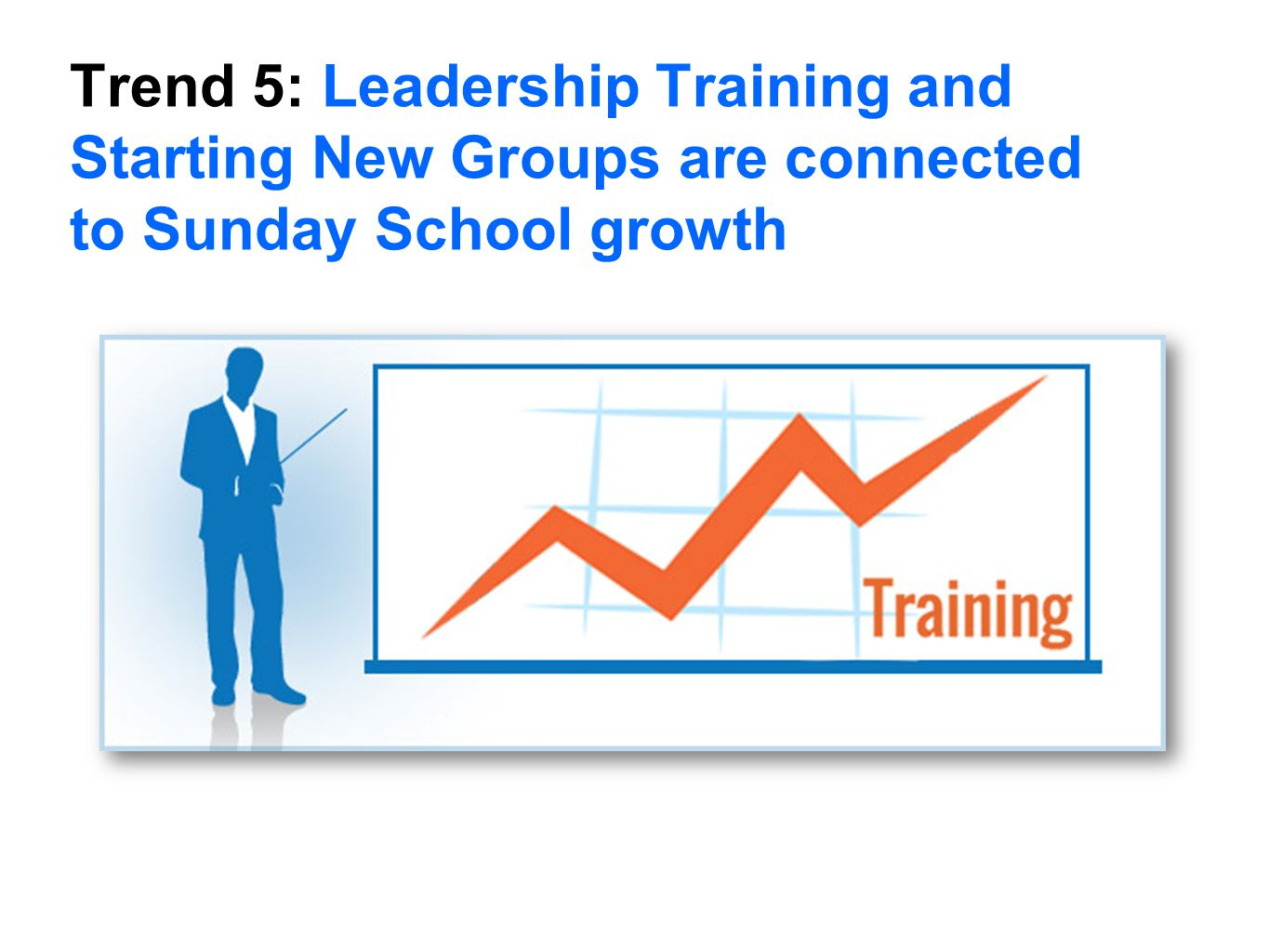 Trend 5: Leadership Training and Starting New Groups are connected to Sunday School growth