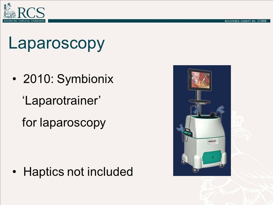 2010: Symbionix 'Laparotrainer' for laparoscopy Haptics not included Laparoscopy