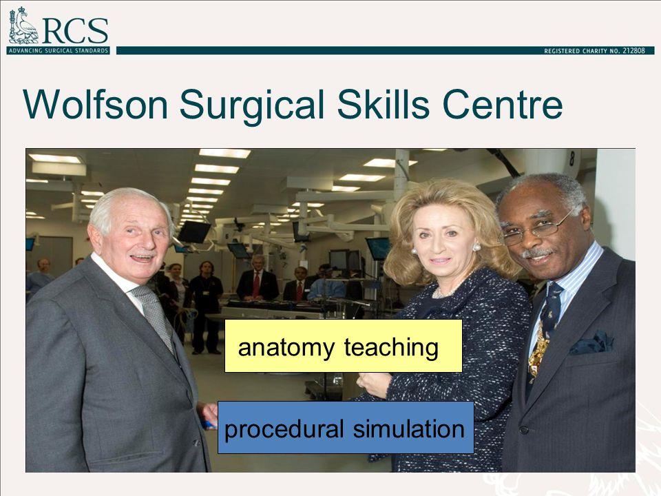 Wolfson Surgical Skills Centre anatomy teaching procedural simulation