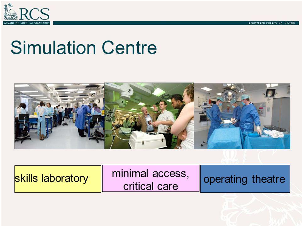 Simulation Centre skills laboratory minimal access, critical care operating theatre
