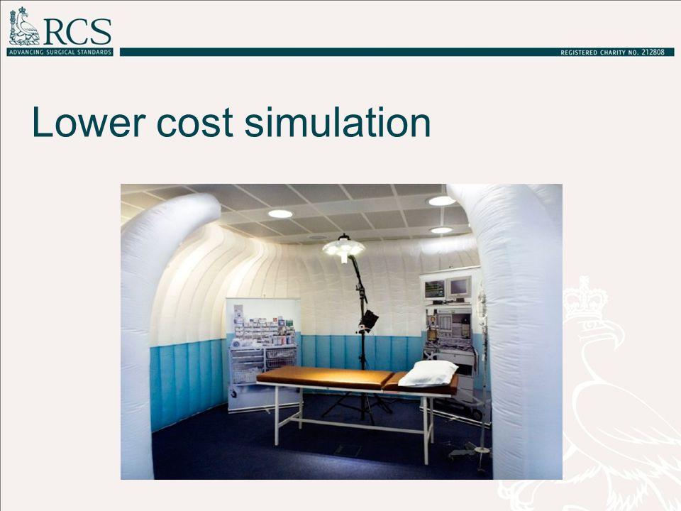Lower cost simulation