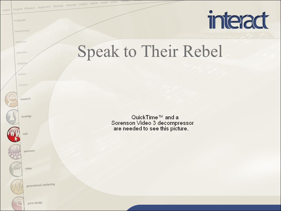 Speak to Their Rebel