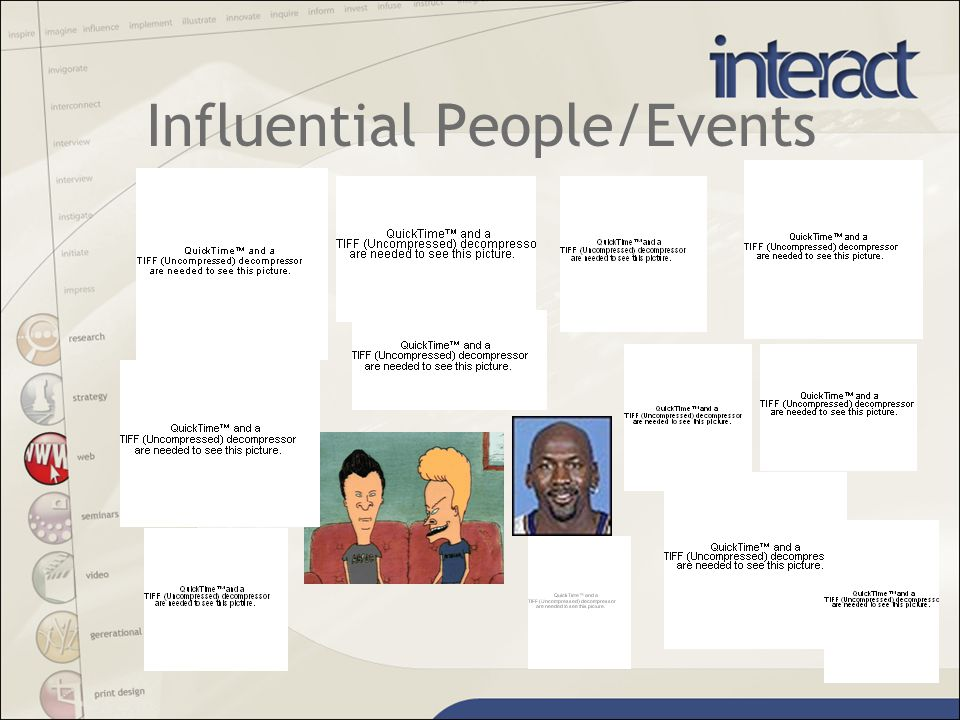 Influential People/Events