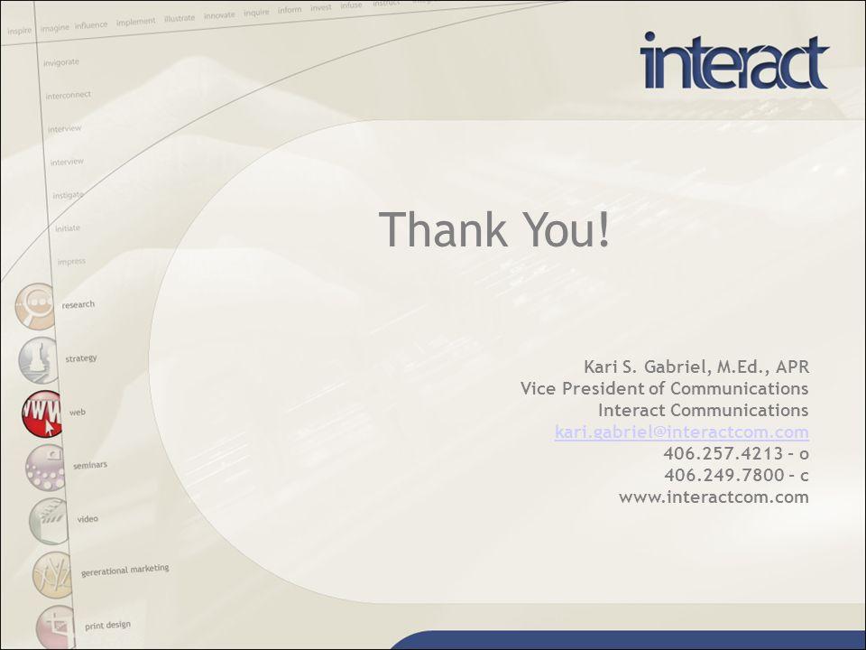 Thank You. Kari S.