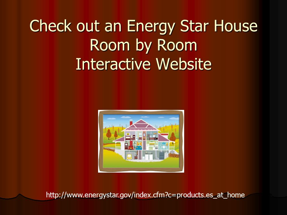 Check out an Energy Star House Room by Room Interactive Website http://www.energystar.gov/index.cfm?c=products.es_at_home