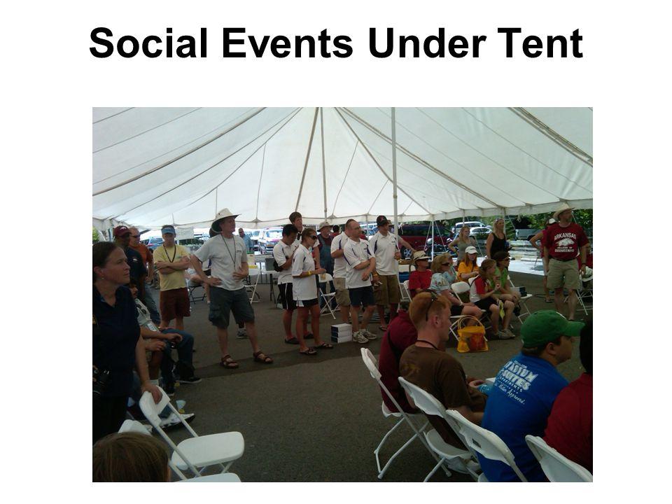Social Events Under Tent