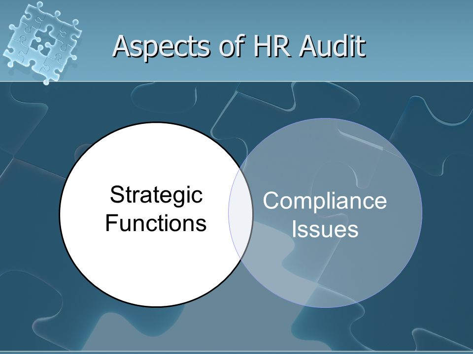 Aspects of HR Audit Strategic Functions Compliance Issues