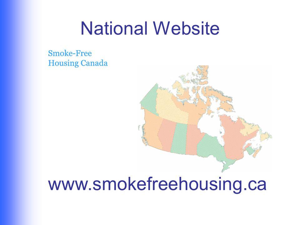 National Website www.smokefreehousing.ca