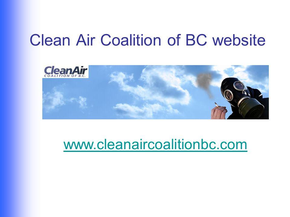 Clean Air Coalition of BC website www.cleanaircoalitionbc.com