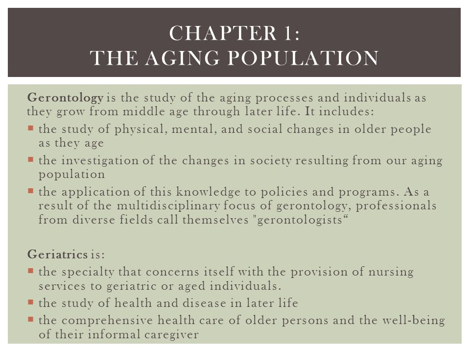  Ageism- the prejudices and stereotypes that are applied to older people sheerly on the basis of their age…  Changes in Family Roles and Relationships- Parenting and grandparenting  Loss of a Spouse- affects more women than men because women tend to have a longer life expectance than men; many are widowed by their eighth decade of life.