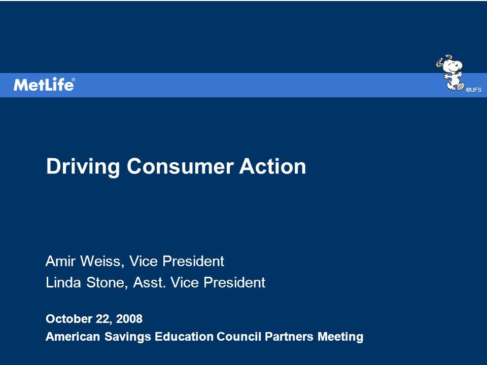 ©UFS Driving Consumer Action Amir Weiss, Vice President Linda Stone, Asst.
