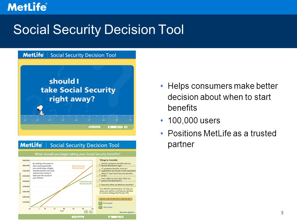 6 Social Security Decision Tool Demo