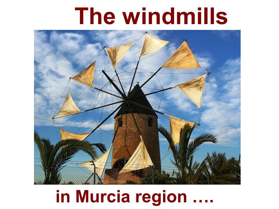 The windmills in Murcia region ….