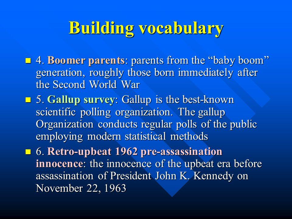 Building vocabulary 1.