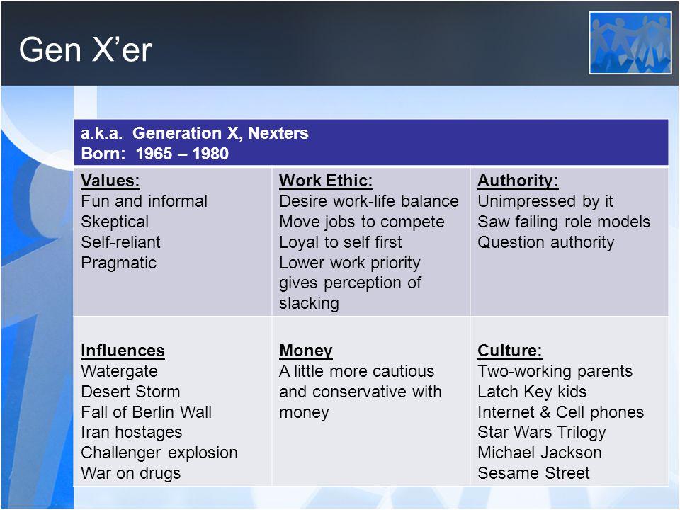 Gen X'er a.k.a.