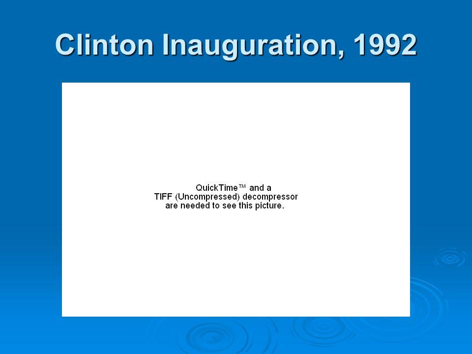 Clinton Inauguration, 1992