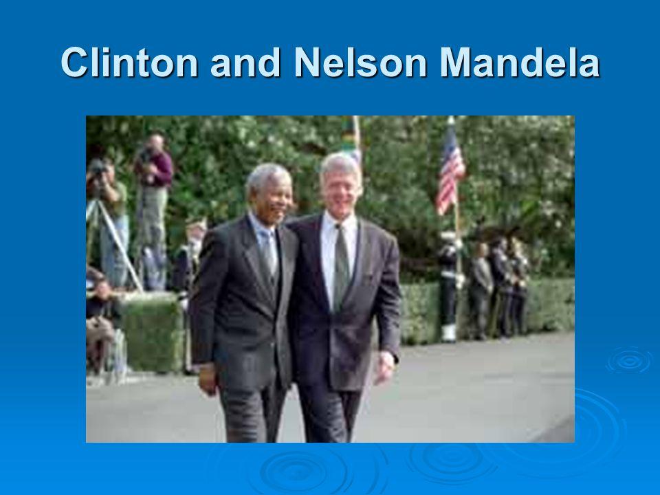 Clinton and Nelson Mandela