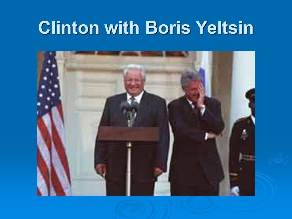 Clinton with Boris Yeltsin