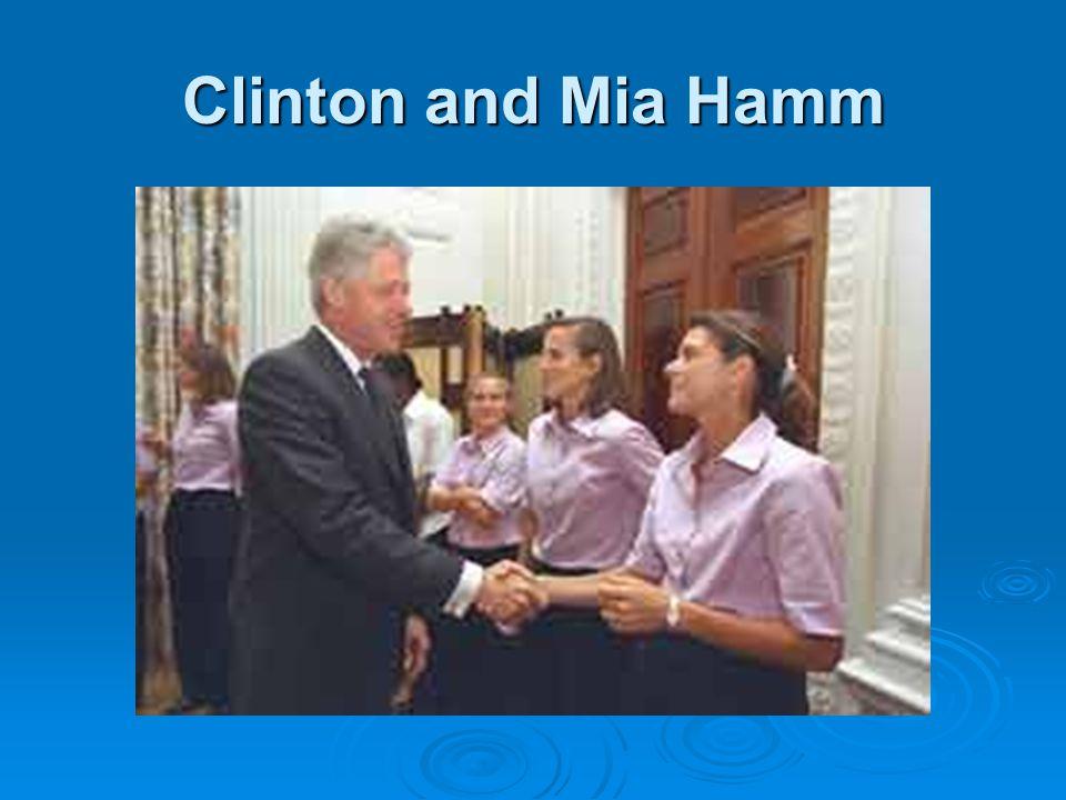 Clinton and Mia Hamm