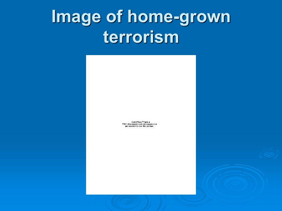 Image of home-grown terrorism