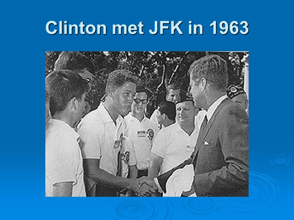 Clinton met JFK in 1963