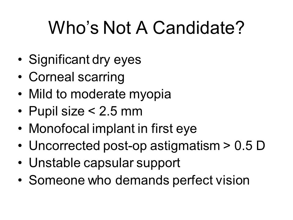 Who's Not A Candidate.