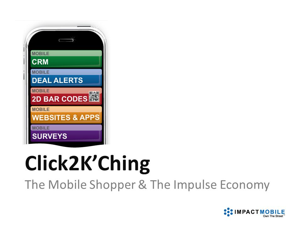 Click2K'Ching The Mobile Shopper & The Impulse Economy