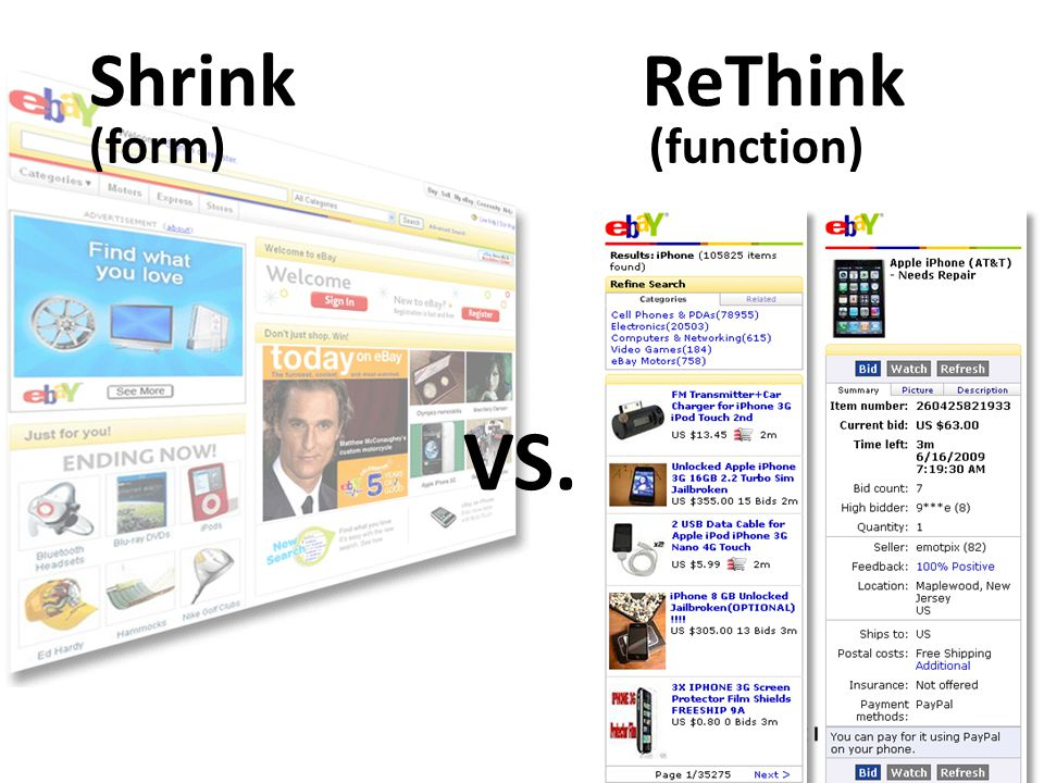 ShrinkReThink (function) (form) VS.