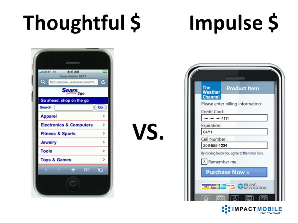 VS. Thoughtful $Impulse $
