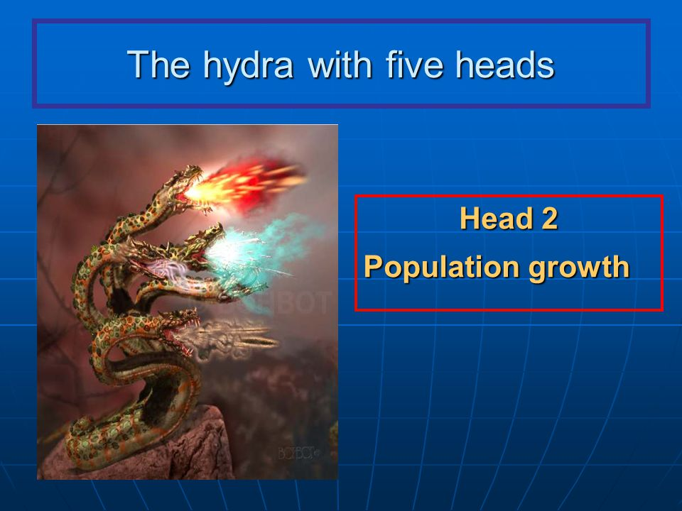 The hydra with five heads Head 2 Population growth